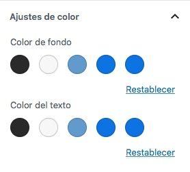 paleta colores personalizada Gutenberg colore personalizador