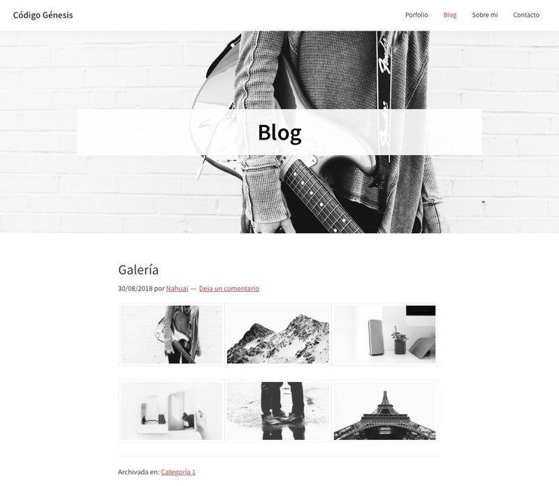 mostrar imagen cabecera pagina blog Genesis Sample