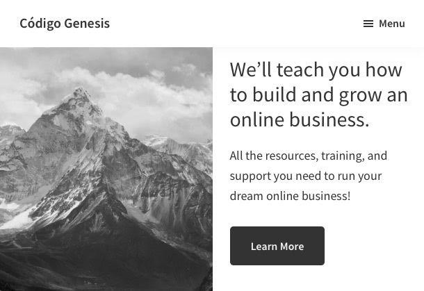 Menú responsive Genesis Sample