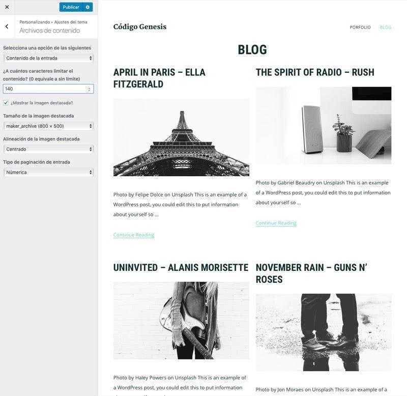 ajuste archivos tema rejilla posts blog Maker Pro