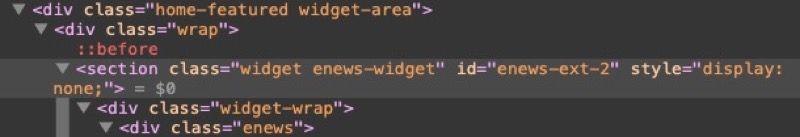 identificar clase CSS en inspector web