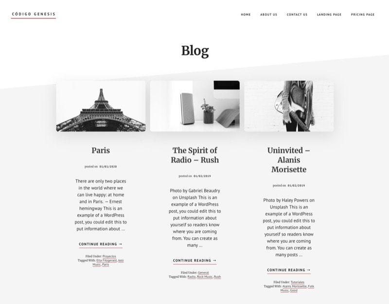 3 columnas blog Academy Pro