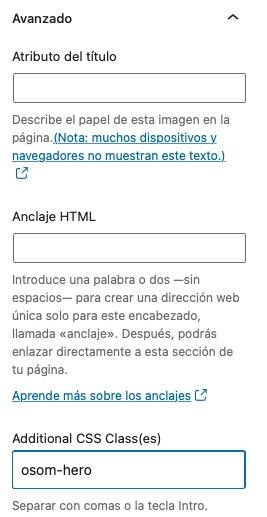 añadir clase al CSS imagen WordPress