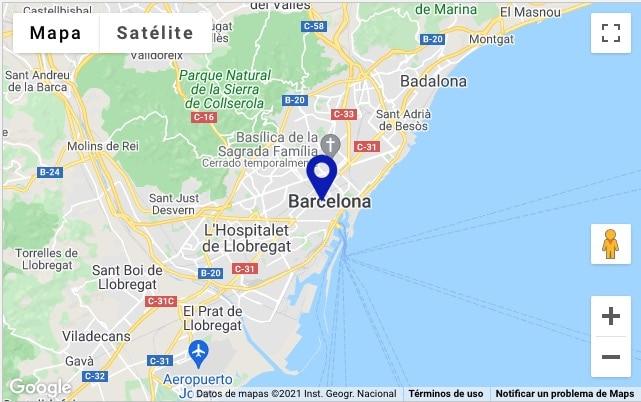 marcador posición personalizado Google Maps creado ACF por defecto